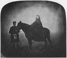 Queen Victoria with her servant, John Brown    Anonymous English Photographer…
