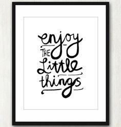 Disfruta de las pequeñas cosas