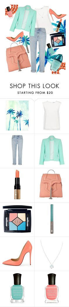 """Fire and ice"" by nadahisham ❤ liked on Polyvore featuring Finders Keepers, Madewell, Damsel in a Dress, Bobbi Brown Cosmetics, Okhtein, Christian Dior, Urban Decay, Christian Louboutin, Wolf & Moon and Deborah Lippmann"