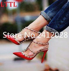 Scarpin Meio Aberto Sapatos Vermelho no Mercado Livre Brasil