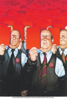 """Haderer-Karikatur vom 6. Juni 2015: """"Trotz wütender Proteste der Europäer: Joseph Blatter bleibt weiter auf dem Fifa-Thron."""" Mehr Karikaturen auf: http://www.nachrichten.at/nachrichten/fotogalerien/cme14862,1281609 (Bild: Haderer)"""