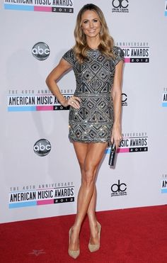 Stacy Keibler Photos Photos - The 40th Anniversary American Music Awards..Nokia Theatre L.A. Live, Los Angeles, CA..November 18, 2012..Job: 121118A1..(Photo by Axelle Woussen)..Pictured: Stacy Keibler. - American Music Awards 2012