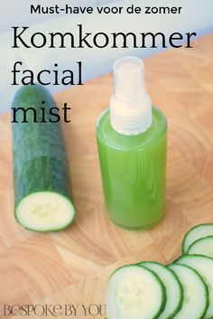 Must-have voor de zomer: komkommer facial mist - Care - Skin care , beauty ideas and skin care tips Homemade Skin Care, Diy Skin Care, Homemade Beauty, Beauty Make Up, Diy Beauty, Beauty Hacks, Natural Make Up, Natural Skin Care, Perm