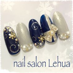 JUST fabulous Christmas nail art! | decorado de unas | ongles | acrylic gel nails
