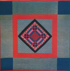 Diamond in the Square Variation, 1927. Made by Katie Stolzfus. Amish. Lancaster Co, Pennsylvania.