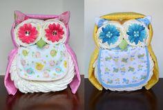 Boy Girl or Neutral Owl Diaper Cake  Baby door PolkaDotsandZigZags