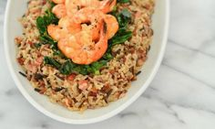 Try this easy and delicious one dish meal: One Pot Shrimp and Pancetta Wild Rice Medley.