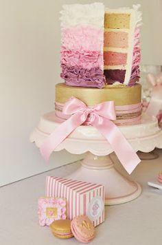 Pastel para fiesta de princesas. Tartas originales.