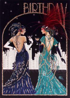 Art Deco Birthday Ladies