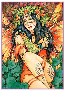 An art tutorial by Linda Ravenscroft - Dark eyed fairy
