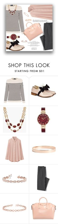 """Bows 1"" by only1gigigirl ❤ liked on Polyvore featuring Saint James, Pokemaoke, Talbots, Anne Klein, Uniqlo, Lana Jewelry, Allurez and Lands' End"