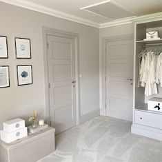 Cornforth white walls and purbeck stone doors Taupe Walls, White Walls, Living Room Flooring, Living Room Carpet, Taupe Living Room, Cornforth White Living Room, Cornforth White Kitchen, Cornforth White Hallway, Grey Woodwork