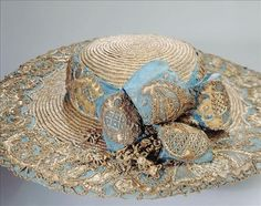 lilith-et-adalia:  Straw & Lace Picture Hat, 1780