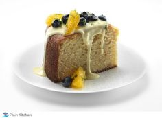 Orange Cornmeal Cake with Crème Anglaise and FAGE Total by Bobby Flay