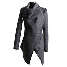 Para Mujer Dama Slim invierno cálido Gabardina Larga chaqueta de lana Outwear Parka Abrigo