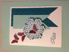Mixed Bunch and Petite Pairs stamp sets Blossom Punch & Bitty Butterfly punch BY Stampin'UP! Originally made by Karen Szczepkowski