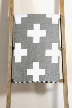 Essex Linen Cross Quilt. CB Handmade 2014