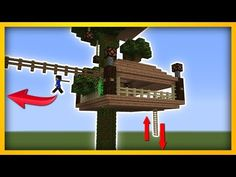 Minecraft Tutorial: How To Make A 2 Player Survival Tree Base (Survival Base) - YouTube