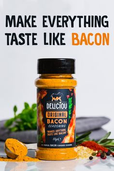 Deliciou's products makes plant-based cooking easy and delicious! Tasty Vegetarian Recipes, Veggie Recipes, Vegan Vegetarian, Whole Food Recipes, Cooking Recipes, Bacon Seasoning, Vegan Dishes, Snack, Plant Based Recipes