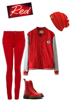 """""""Red"""" by carlafashion-246 ❤ liked on Polyvore featuring мода, Dr. Martens и Paige Denim"""