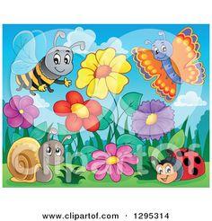 Cartoon Garden Clipart 6