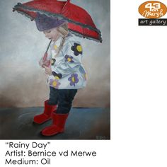 """""""Rainy Day"""" Oil on canvas by Bernice vd Merwe Contact 43 on Marsh should you be interested in a work: 083 390 8000 Artist Painting, Oil Paintings, Oil On Canvas, Art Gallery, Art Museum, Painted Canvas, Fine Art Gallery, Art Oil"""