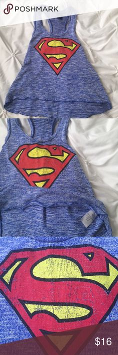 Superman Sweater Blue Tank Superman Sweater Blue Tank size small, light material   ---- 🚭 All items are from a non-smoking home. 👆🏻Item is as described, feel free to ask questions. 📦 I am a fast shipper with excellent ratings. 👗I do bundle discounts and am open to trades. 😍 Like this item? Check out the rest of my closet! 💖 Thanks for looking! Superman Tops Tank Tops