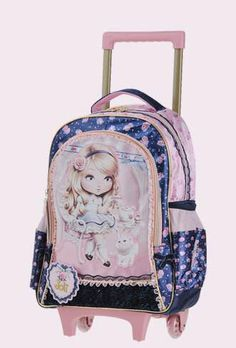 d00db500e625 Buy Kids Trolley Bag On wheels for School trolley backpack for girls  Children s Rolling Bag for school Travel luggage Trolley Bags