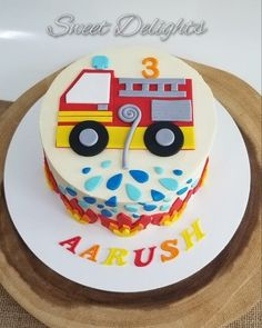 [New] The 10 Best Dessert Ideas Today (with Pictures) - Fire Truck Birthday Cake Its been a pleasure to bake the consecutive cake for this lil ones birthday celebrations. Firefighter Birthday Cakes, Fireman Cake, Twin Birthday Cakes, Truck Birthday Cakes, Birthday Cakes For Teens, Homemade Birthday Cakes, 3rd Birthday, Fun Desserts, Dessert Ideas