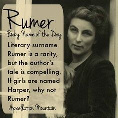 This #BabyNameoftheDay marries on-trend sounds with a literary reputation. Could Rumer catch on in 2015?