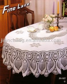 Image detail for -How to Crochet a Round Lace Tablecloth | eHow.com