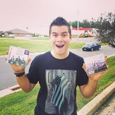Zach with their newest album! Can't wait to hear all the great songs!