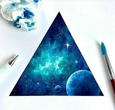 Original Watercolor Painting, Galaxy Painting, Moon Painting, Handmade is part of pencil-drawings - Handmade Watercolor Galaxy Painting Size X Material watercolor paper, Komorebi watercolor paints Ships in 12 days Space Watercolor, Space Painting, Moon Painting, Painting & Drawing, Watercolor Paintings, Galaxy Watercolour, Watercolours, Planet Painting, Galaxy Art