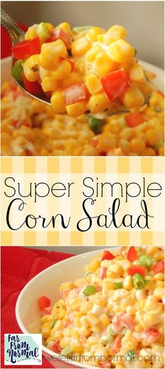 How easy is this With only 4 ingredients this salad is so delicious and super quick! Great for picnics & cookouts!
