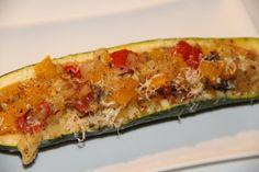 stuffed zucchini - gevulde courgette