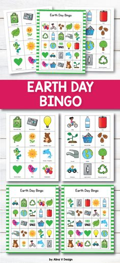 Earth Day Bingo Activities for preschoolers, kindergarten, first grade and even elementary students is a fun and easy teaching resource that you can use in your classroom to teach your students about  environment, water, trees and pollution.  #earthday #spring #fun #printable #bingo #earthdaybingo #activities