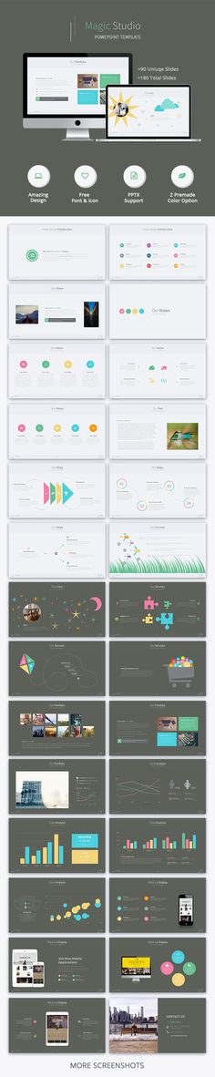 Magic Studio - Creative Powerpoint Template #design #slides Download: http://graphicriver.net/item/magic-studio-creative-powerpoint-template/13643384?ref=ksioks