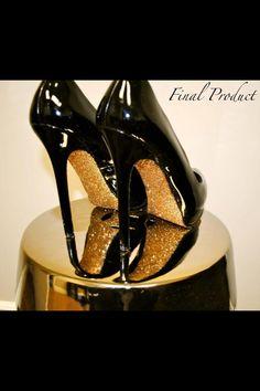 Glitter sole shoes DIY