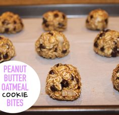Beauty and Bananas : #FoodieFriday: NO BAKE PEANUT BUTTER OATMEAL COOKIE BITES