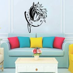 Horse Wall Decals Vinyl Sticker Bedroom Decal Nursery Room Home Decor Window Interior Design Art For Car Murals Ah144