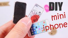DIY miniature iphone for a doll. Design your own phone case. The key to this craft is the clear mounting tape, which creates the realistic look of the phone....