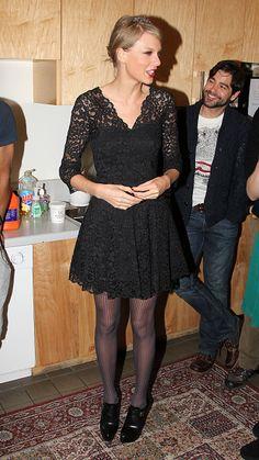 Taylor Swift backstage at the Carol King musical