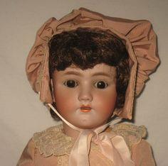 "Antique 24"" Heinrich Handwerck / Simon & Halbig Bisque Socket Head Doll     MZ5"