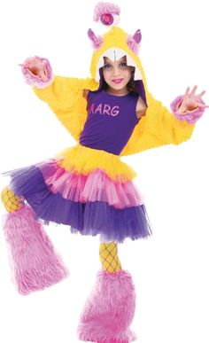 Deluxe Girls Aarg Costume - Party City