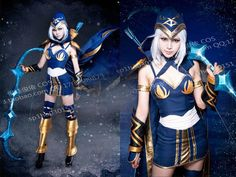 CUSTOM League of Legends LOL Cosplay Costume Outfit - Ashe