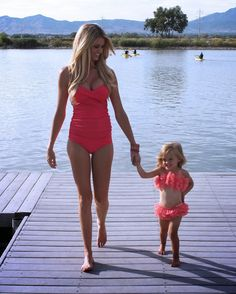 Mommy and me. Swim suits.