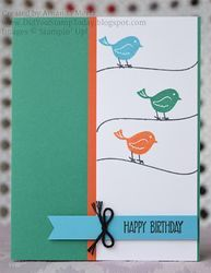 Swirly Birds on a Wire - Stampin' Up! Swirly Bird (Did You Stamp Today?)
