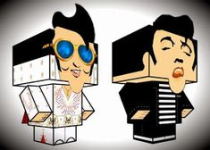 Here are two cool paper toys of the King Elvis Presley  in a nice Cubeecraft style , created by North American designer Carl Labombard.    ...