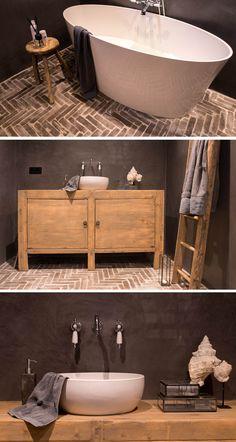 5 tips voor een stijlvolle én praktische badkamer. #3 Combineer landelijk en strak! + een budget-tip