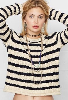 Ralph Lauren Denim & Supply: Soft knit sweater featuring nautical-inspired stripes.